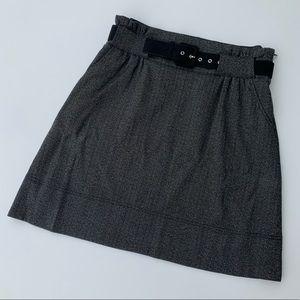 Black/Dark Gray Dress Skirt